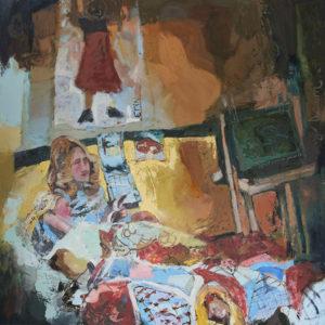"""Artist's Childhood Room"", Erin McGee Ferrell (2019, oil on canvas)"